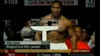 Mike Tyson v s Lenox Lewis Weigh-In
