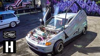 Beast Drag Civic EG6 vs Rare JDM E-AT