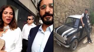 شاهد تغريدة الفنان احمد حلمى مع زوجته منى زكى على الانستجرام