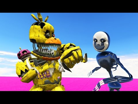 FNAF SCHOOL FIGHT NIGHTMARE PUPPET MASTER vs NIGHTMARE CHICA! (GTA 5 Mods FNAF Funny Moments)