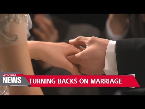 Number of marriages in S. Korea drops to record low in 2017