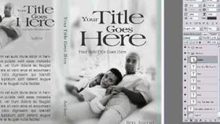 Pt 1 - Make Your Book/DVD Cover Design using Adobe Photoshop 7 from a template