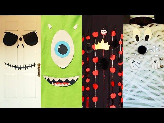 Disney Halloween Door Decor Four Ways | Disney Family
