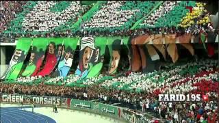 تيفو أنصار المولودية وإتحاد الجزائر 2016 TIFO MCA VS USMA