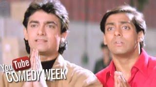 Aamir, Salman Khan Comedy Scenes - Jukebox - 3 Comedy Week