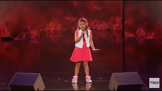 Angelica Hale 9-Year-Old Earns Golden Buzzer From Chris Hardwick - America's Got Talent 2017 HD