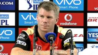 David Warner talks about Sunrisers' defeat against RCB: IPL 2016