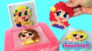 Conjunto Aquabeads Princesa Ariel do filme Disney A Pequena Sereia Brinquedos ToysBR Portugues BR