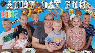 Aunt Day FUN! Surprise Cookie Decorating and CANDY!!
