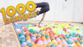 COLOQUEI 1000 BEXIGAS NA PISCINA !!!
