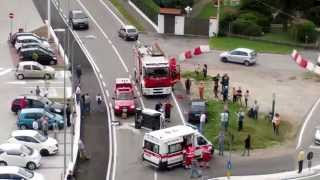 Gallarate 10-09-2015 Incidente stradale in via Checchi , uscita eurospin