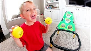 FATHER SON TRAMPOLINE TRICK SHOTS!