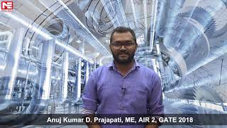 Anuj Kumar D  Prajapati, ME, AIR 2, GATE 2018