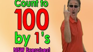 New Count To 100 Song | Let's Get Fit ver. 2 | Counting to 100 by 1's | Jack Hartmann