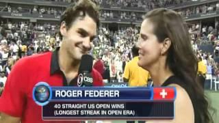 Roger Federer vs Djokovic greatest point ever US Open