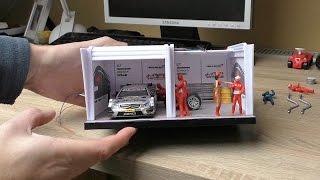 Carrera Rennbahn Tagebuch - #13 - Boxengasse / Pit Stop Garage Aufbau und dekorieren