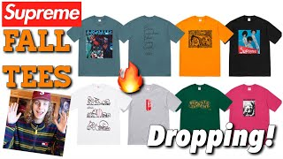 FALL TEES DROPPING! Supreme F/W '18 Week 5 Drop Review!