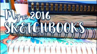 My 2016 SKETCHBOOKS - Sketches, Copics, Watercolor, Gouache & More! - MissKerrieJ -