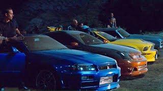 FAST and FURIOUS 4 - Tunnel Race (Chevelle vs GT-R vs Gran Torino vs Mustang vs G35) #1080HD