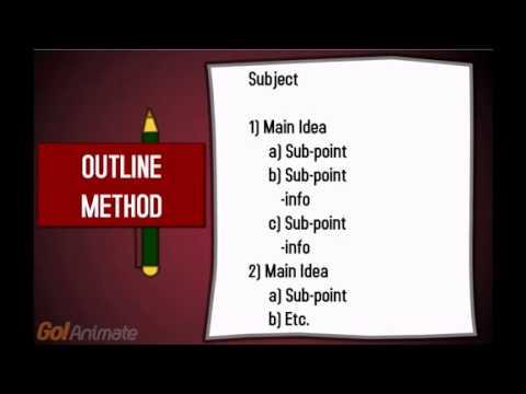 Study Skills - Note Taking Skills (University of British Columbia)