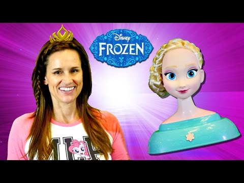 Disney Frozen Elsa Styling Head Amy Jo Wears & Shares Hair Accessories Toys by DCTC