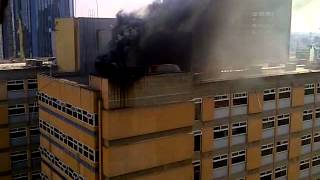 680 Hotel in Nairobi Burning rubbish