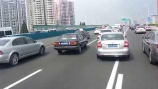 Shanghai traffic - elevated road - not rush hour ! FULL HD