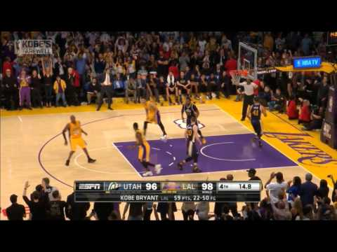 Kobe Bryant's last seconds in the NBA - his final 2 free throws for 60 Points!
