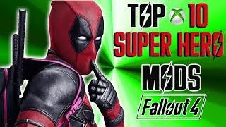 Fallout 4 Top 10 SUPER HERO Mods ft. Deadpool