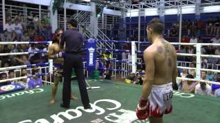 Fede Roma (Sinbi Muay Thai) From Argentina  In a Bloody Matchup