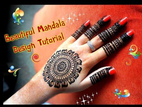 Xxx Mp4 How To Apply Easy Simple Henna Mandala Gol Tikki Mehndi Designs For Hands For Eid Diwali 2017 3gp Sex