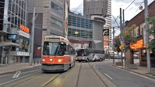 Driving Downtown 4K - Downtown Centre - Toronto Canada
