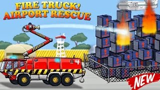 Fire Engine for Children - NEW Fire Truck:Airport Rescue | Fire Truck Cartoon for KIDS | Videos BABY