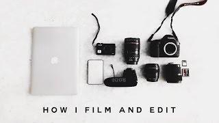 HOW TO: Film & Edit Videos + Vlogs 2017 (MY CAMERA EQUIPMENT) | Imdrewscott