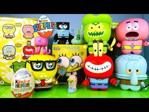 New Spongebob Squarepants Toys Full Set UNKL Unipo Kinder Surprise Egg Opening Disney Cars Toy Club