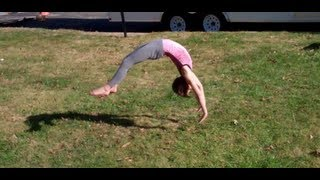 7 and 9 Year Old Gymnastics Tumbling!