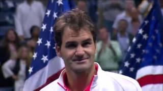 great speech of Roger Federer after he has lost us open Final 2015