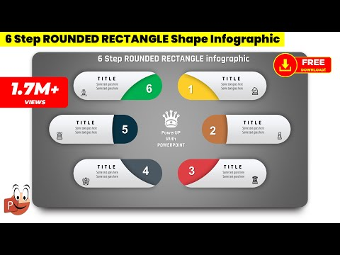 9.Create 6 step ROUNDED RECTANGULAR infograhic PowerPoint Presentation Graphic Design Free Template