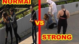 Maltraitance d'une femme par des Hommes normaux VS Musclés