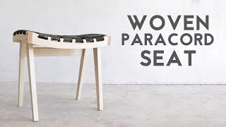 DIY Wooden Stool With Woven Paracord Seat   Modern Builds   EP. 68