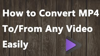 2018 NEW - How to Convert MP4 to/from Any Video Easily