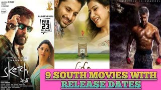 9 NEW SOUTH MOVIES WITH RELEASE DATES😀😀