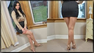 Vintage Fully Fashioned Stockings Review - Cassie Clarke - 15 Denier Sheer Nylon classic seamed