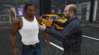 CJ IN GTA 5! - CARL JOHNSON FROM SAN ANDREAS IN GTA 5! (GTA 5 MOD)