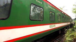 (4K Ultra HD) Silk City Express Train Of Bangladesh Railway