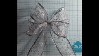 4 loop wire ribbon bow