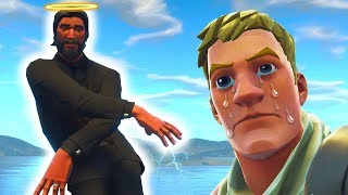 When you flex your fresh skin on Noobs in fortnite...