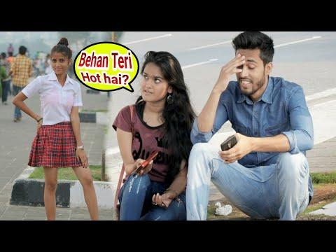 Xxx Mp4 Cute School Girl Prank Kya Maal Hai Teri Behen Prank Prank On Cute Girls Best Prank BRbhai 3gp Sex