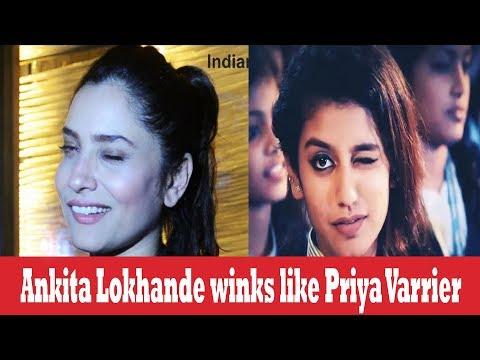 Xxx Mp4 Ankita Lokhande Imitates Viral Sensation Priya Varrier 3gp Sex