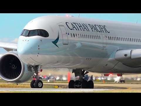 SENSATIONAL Cathay Pacific Airbus A350-900 CLOSE-UP Takeoff ● Melbourne Airport Plane Spotting